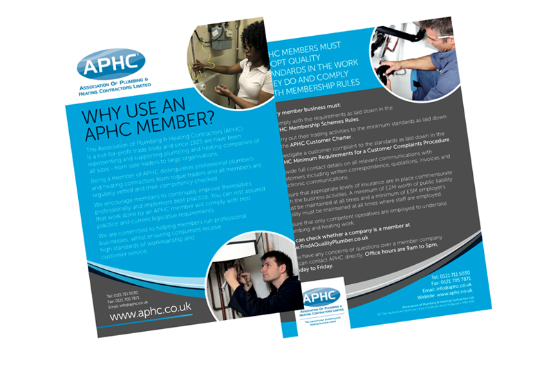 APHC supports installers with consumer leaflet