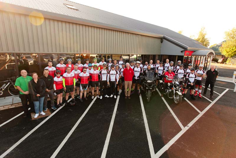 Success for Aico charity bike ride