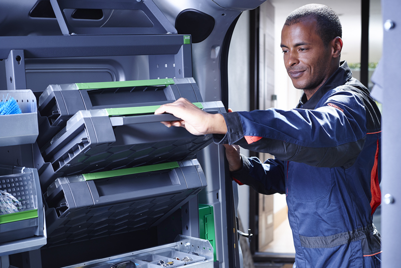 Smartvan racking system from Bott