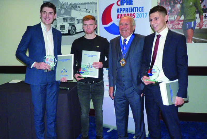 Celebrating excellence at the CIPHE Apprentice Awards 2017
