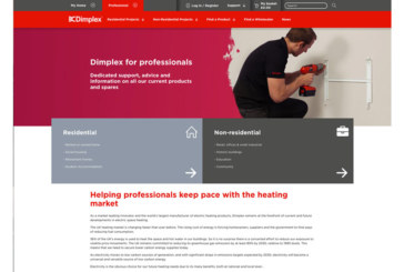 Dimplex launches new website