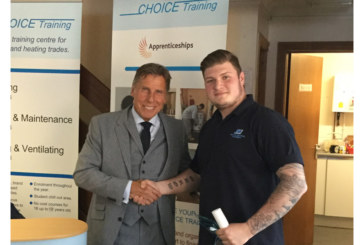 J S Wright apprentice wins Choice Training award