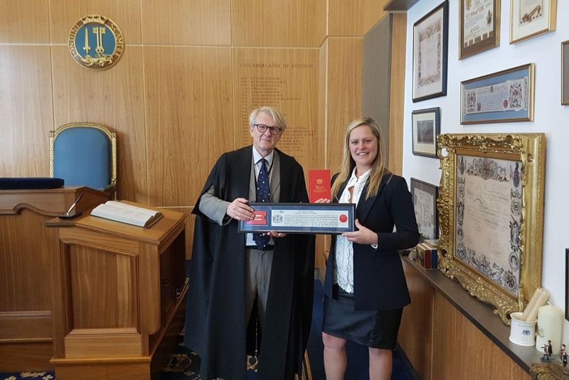 On Tap Director receives Freedom of the City of London admission