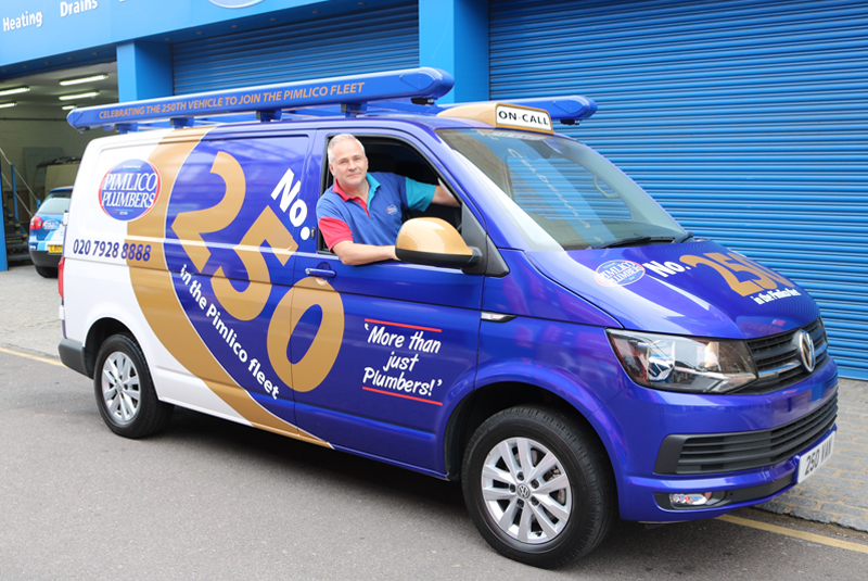 Pimlico Plumbers sees 250th vehicle hit the road