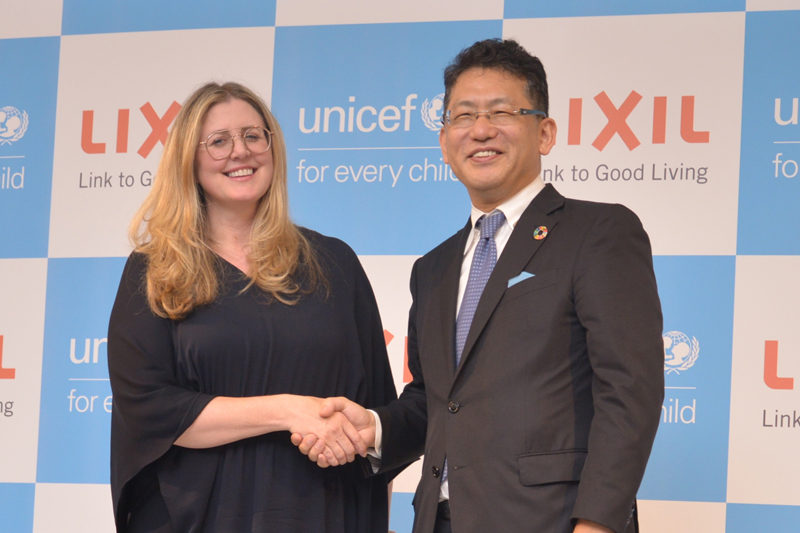 UNICEF and LIXIL join forces in latest campaign