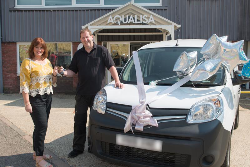 Aqualisa reveals winner of 'win a van' competition