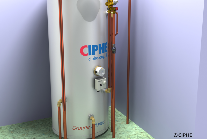 CIPHE: Unvented hot water discharge pipe termination