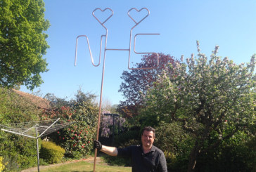 Plumbing lecturer's creative 'thank you' to the NHS