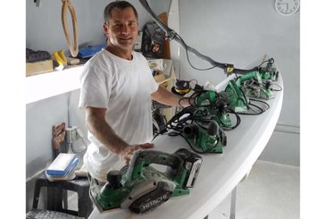 Hitachi Power Tools supports surfboard master Matt Kazuma