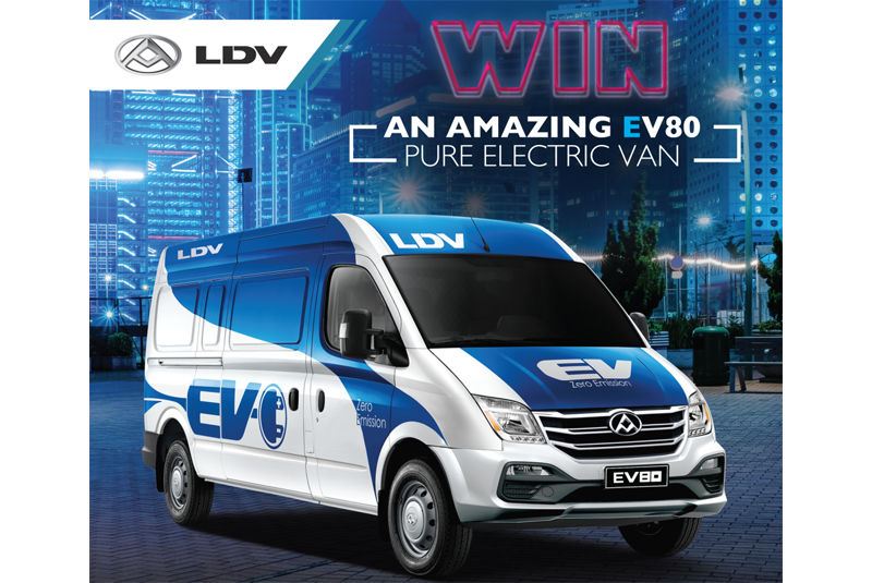 Win an LDV electric van worth over £60,000!