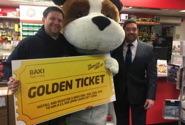 First Baxi Golden Ticket claimed