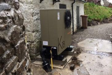 Robur gas powered heat pump installed in Devon