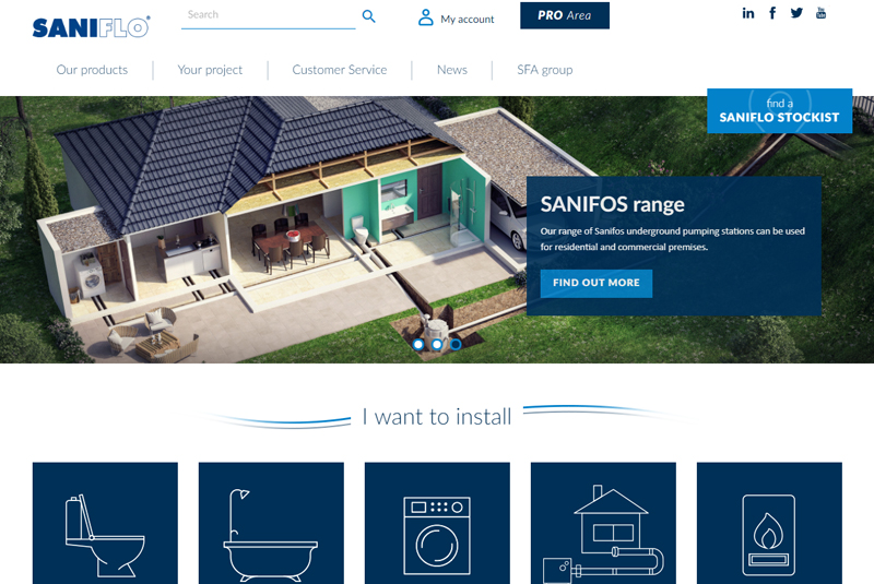 Saniflo launches updated website