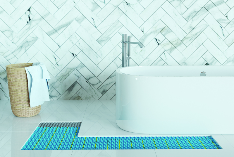 Tips for installing wetroom electric UFH