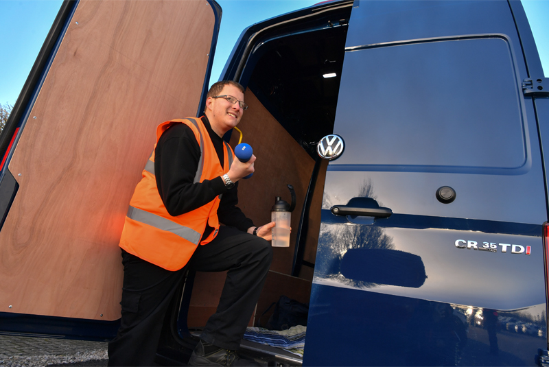 Van drivers on the road to good health