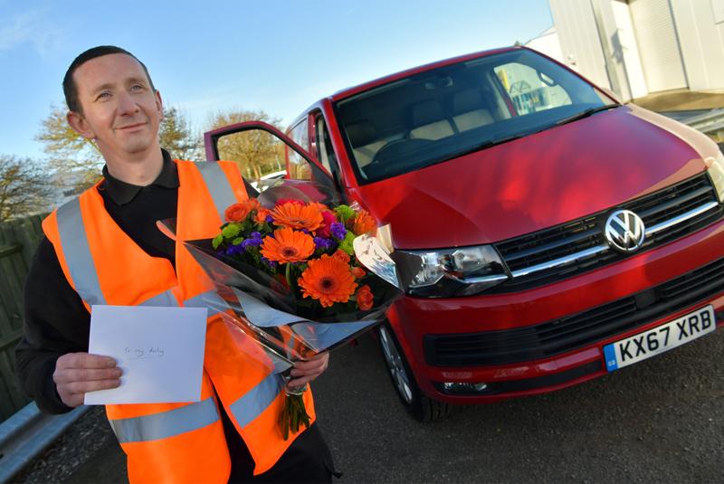 Van drivers embrace romantic side