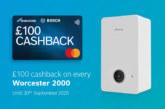 Worcester Bosch extends Worcester 2000 cashback promotion