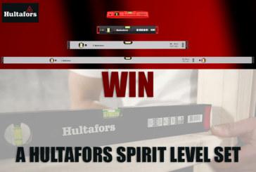 GIVEAWAY: Hultafors spirit level sets