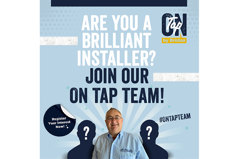 Bristan launches search for installers to join its On Tap Team