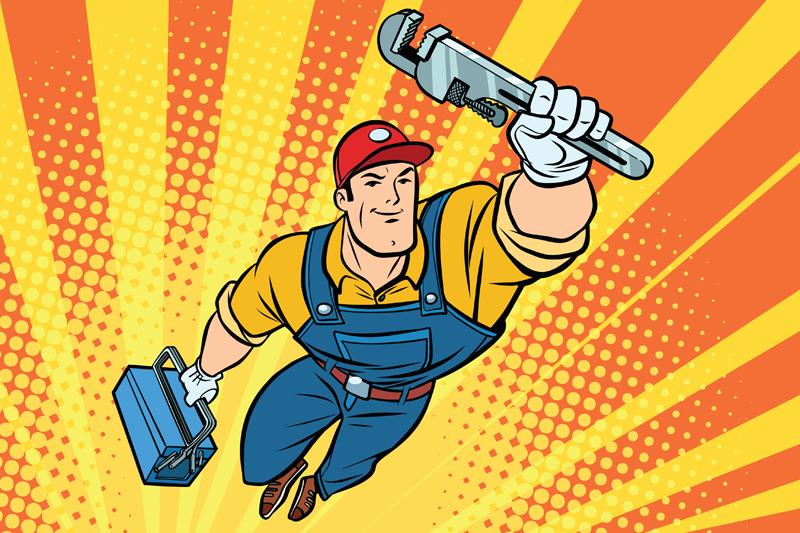 Celebrating plumbing superheroes