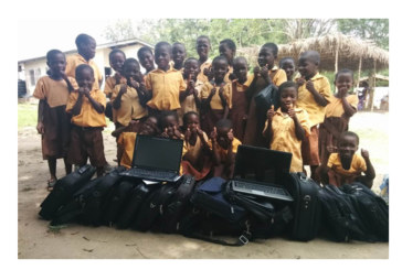 Daikin donates computers to Africa