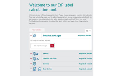 ErP calculator is a plus for installers