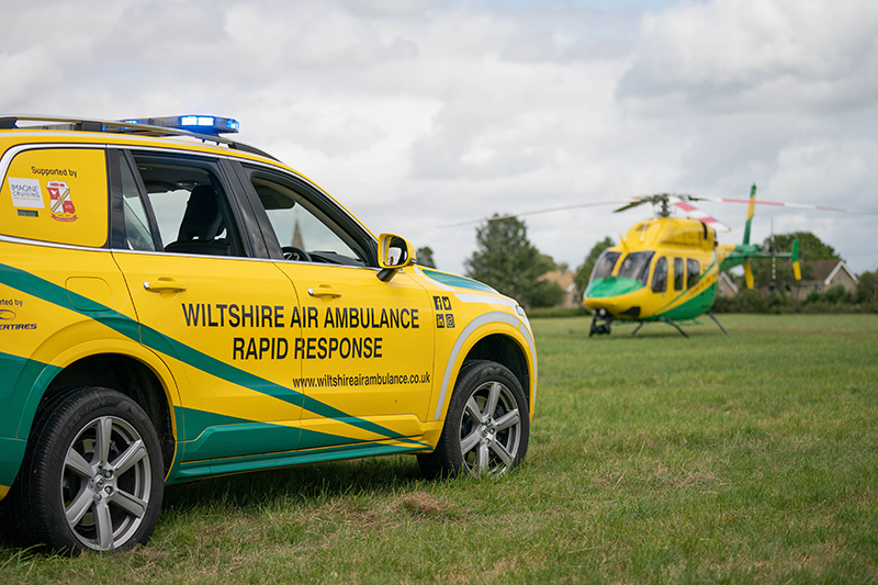 Grant UK donates £10,000 to Wiltshire Air Ambulance charity