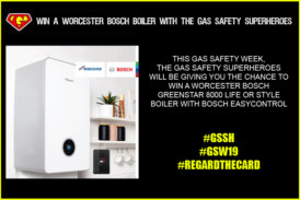 Win a Worcester Bosch boiler with The Gas Safety Superheroes!