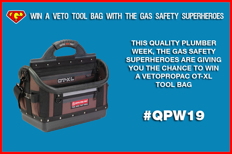 Win a Veto tool bag with The Gas Safety Superheroes!