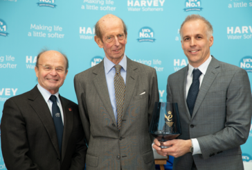 Harvey Water Softeners welcomes HRH The Duke of Kent