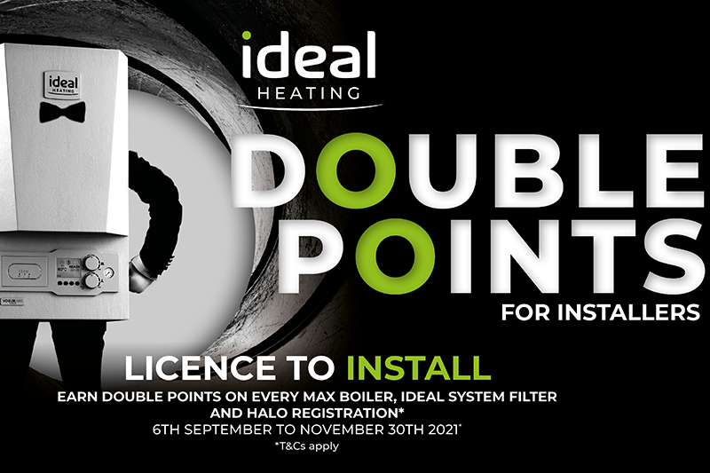 Earn double points with Ideal Heating's Installer Connect