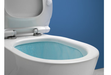 AquaBlade flush incorporated into Ideal's Concept collection