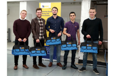 Apprentices celebrate plumbing qualifications at Hull College