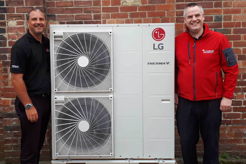 Plumbase to stock LG's Therma V air to water heat pump range