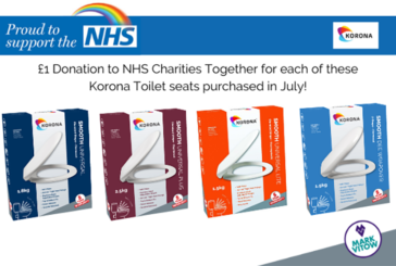 Sales of Korona toilet seats will raise funds for the NHS