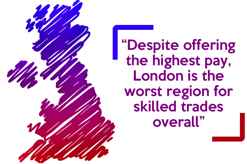 REVEALED: The best regions to work in the trades