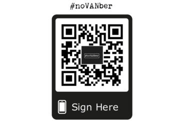 Add your voice to the #noVANber campaign