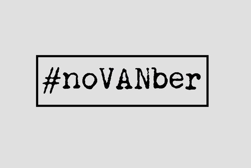 #noVANber marketing materials