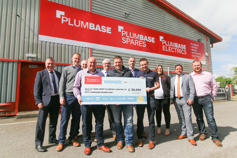 Installer wins £50,000 in Plumbase competition