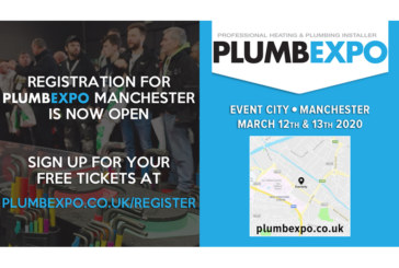 Registration is open for PLUMBEXPO 2020 in Manchester!