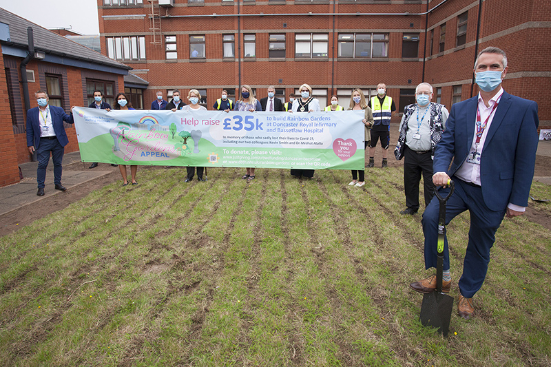Polypipe supports memorial rainbow garden at hospital
