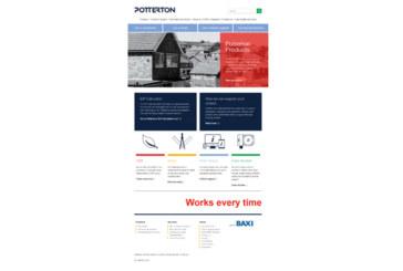 New website for Potterton
