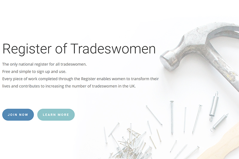First National Register of UK Tradeswomen launches this week