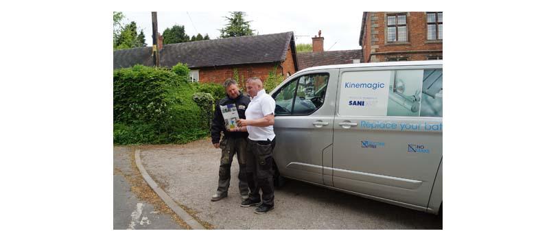 New van graphics generate sales success for Saniflo