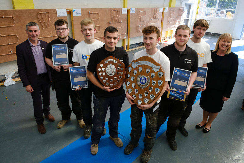 Perth apprentices top Scottish SkillPLUMB competition