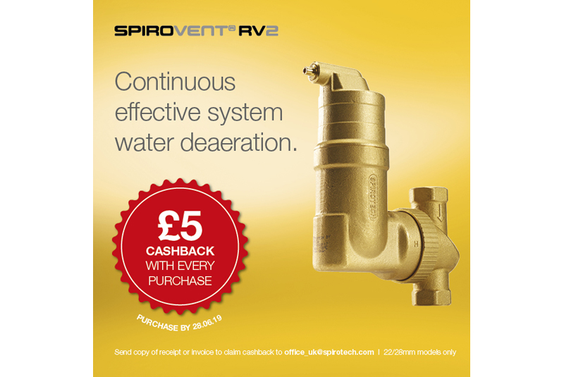 Spirotech introduces SpiroVent RV2 cashback