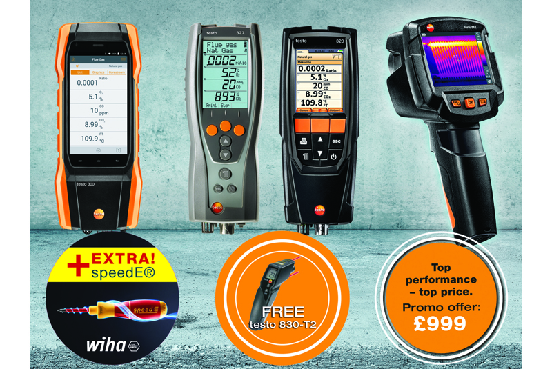 Testo's autumn offers for heating engineers