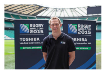 Toshiba collaborates with Josh Lewsey