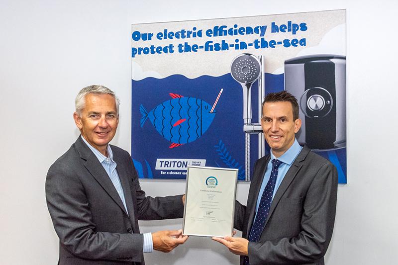 Triton Showers achieves the Carbon Trust Standard for Carbon