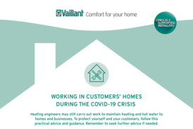 Safe working infographics for installers from Vaillant and Glow-worm